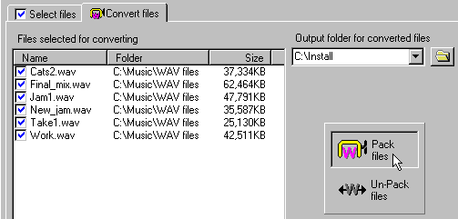 how to compress audio files well