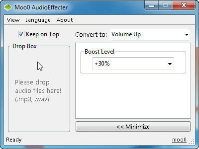 moo0 audio effecter is a mp3 volume normalizer