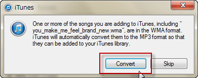 itunes automatically convert wav to mp3