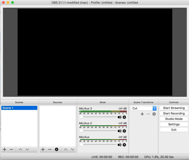 use open broadcaster software to record screen on mac