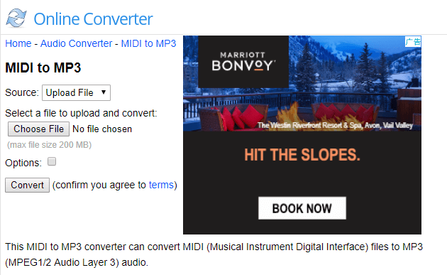 open online midi to mp3 converter
