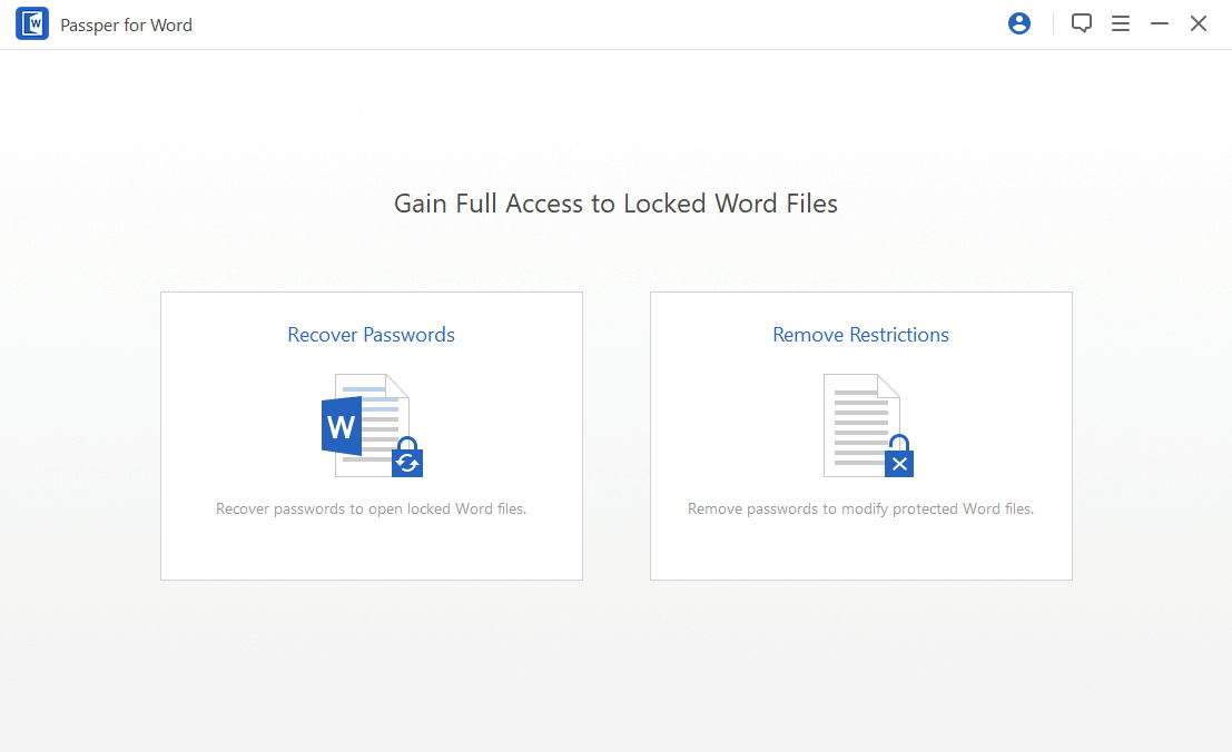 how to unlock word document with passper for word