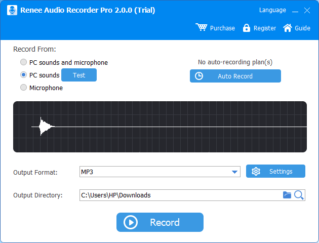 open renee audio recorder pro