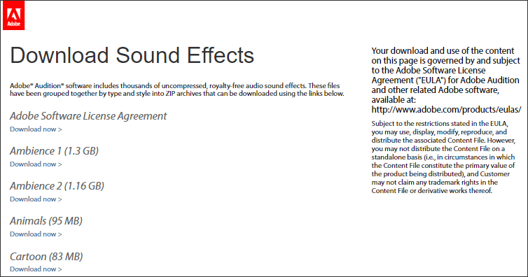 get sound effects from adobe audition sound effects