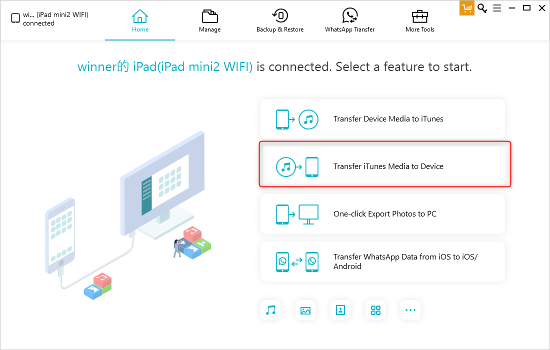 use tenorshare to transfer music to device