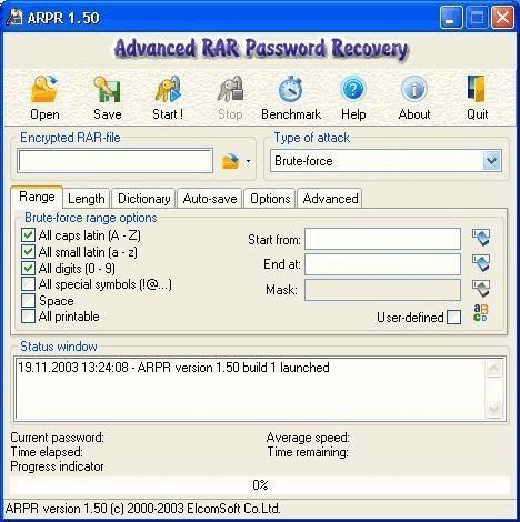 use arpr to decrypt winzip password