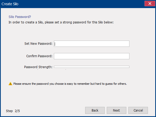 set a new password for the virtual disk in renee secure silo