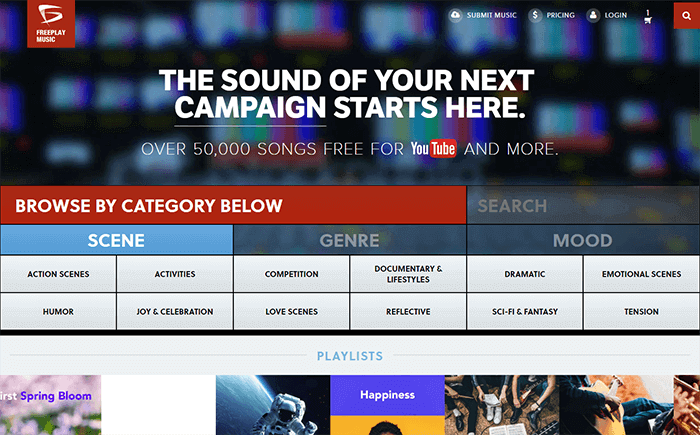 get access to freeplay music to download sound effects