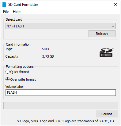 how to use sd memory card formatter to format