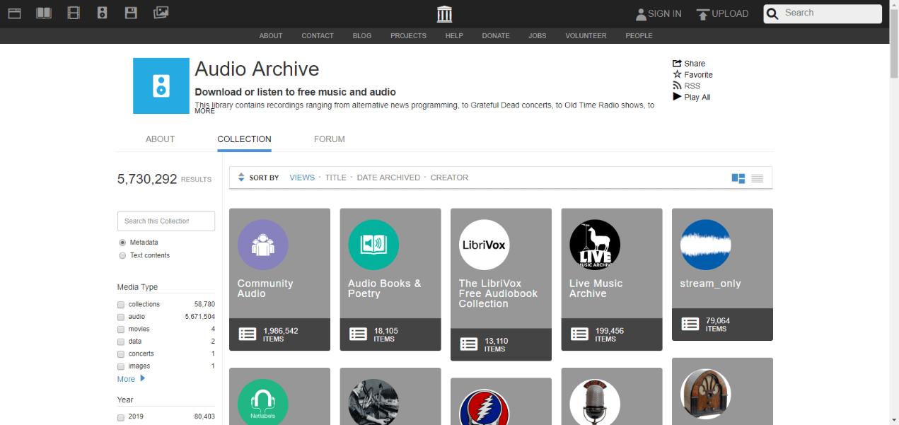 audioarchive website