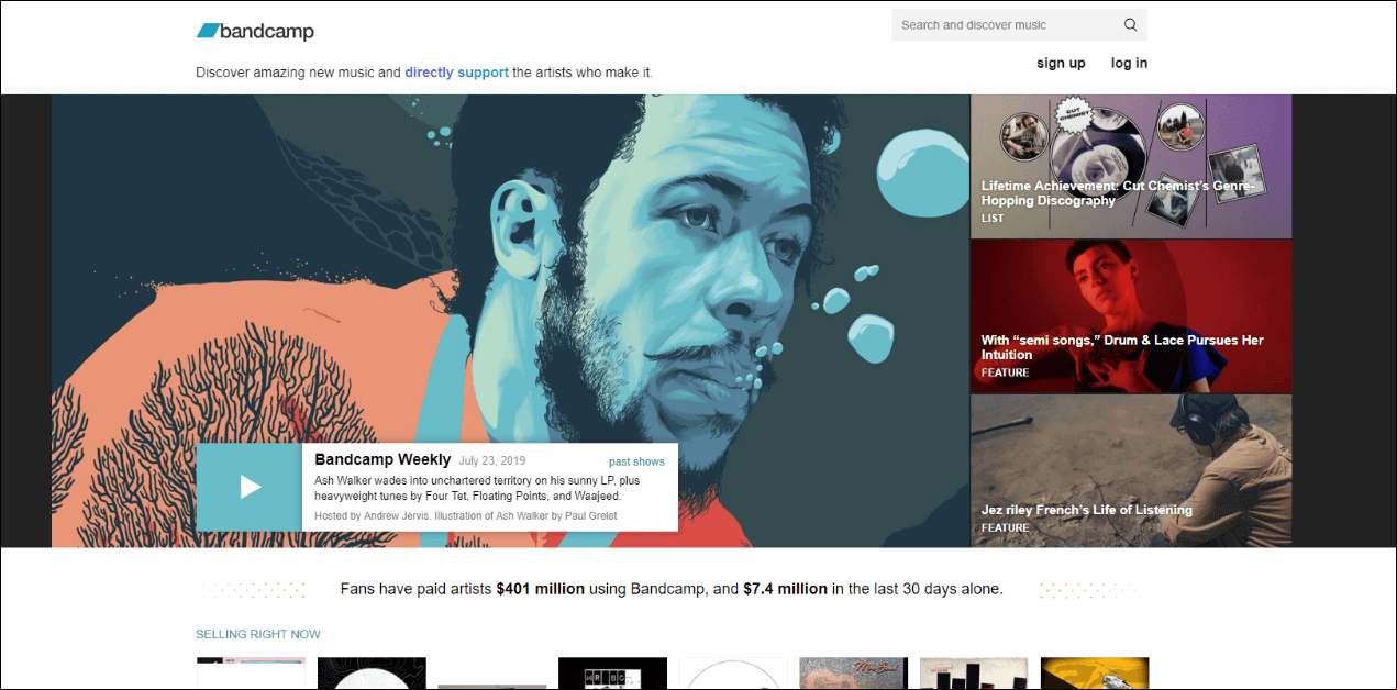 get high quality music from bandcamp