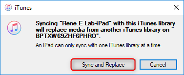 confirm to sync videos from itunes to ipad