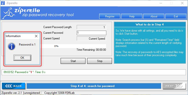 password is cracked by zipperello