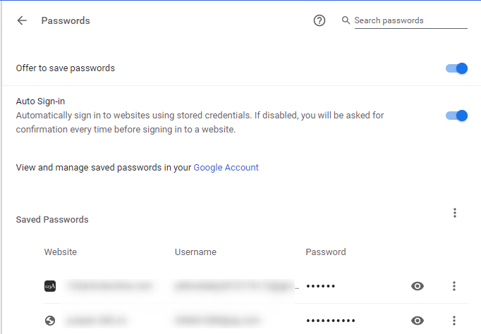 Google chrome password manager checkup