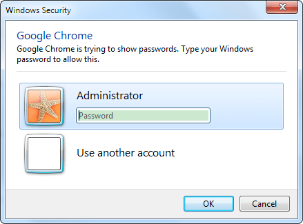 enter password to check up