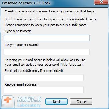 set master password of Renee USB Block