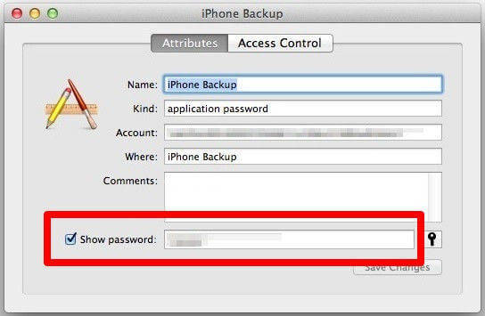 show itunes backup assword in keychain access iphone backup unlocker