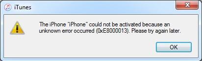 0xE8000013 error
