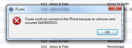 itunes error 0xe800002d solution