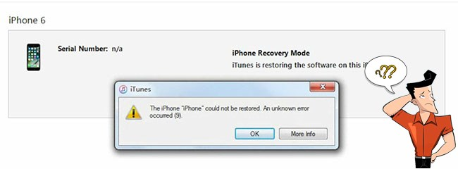 iphone error 9 solution