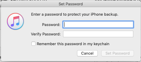 remember this password in my keychain in itunes