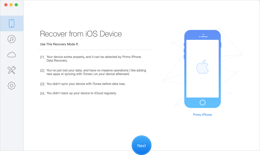restore iphone from itunes backup with primo iphone