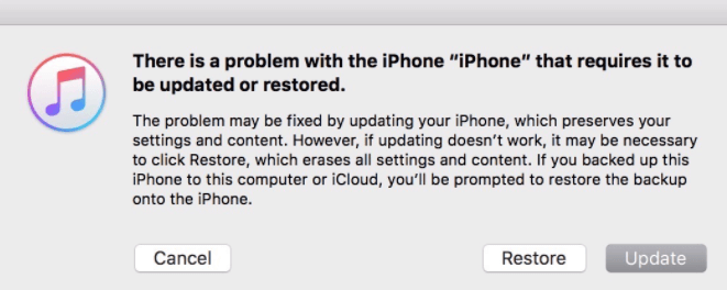 how to restore or update iphone with itunes bypass iphone passcode