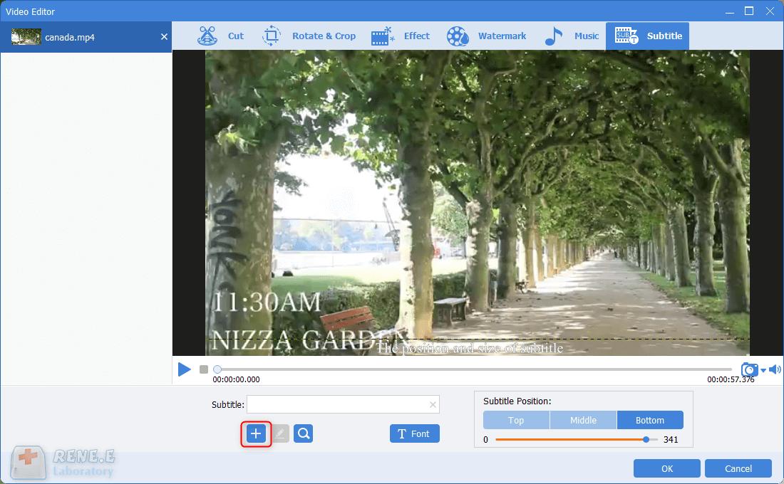 add srt subtitles to mp4 video
