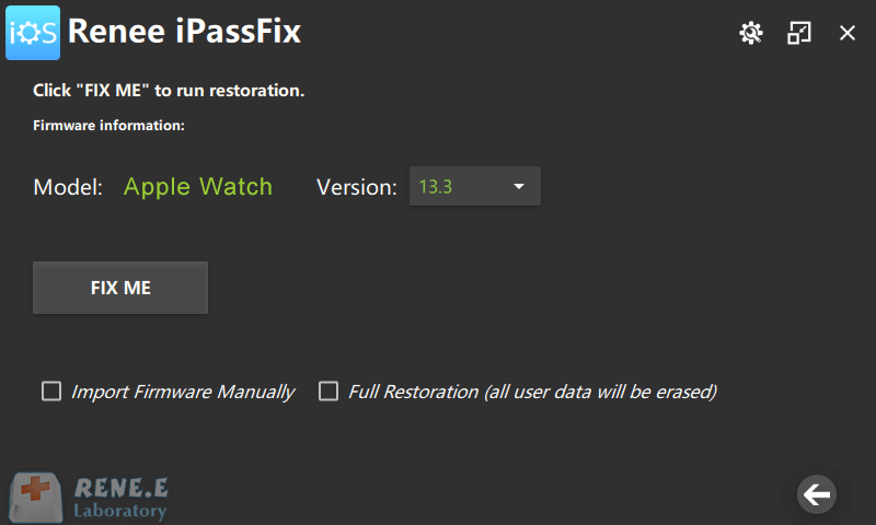 click to fix apple watch in ipassfix