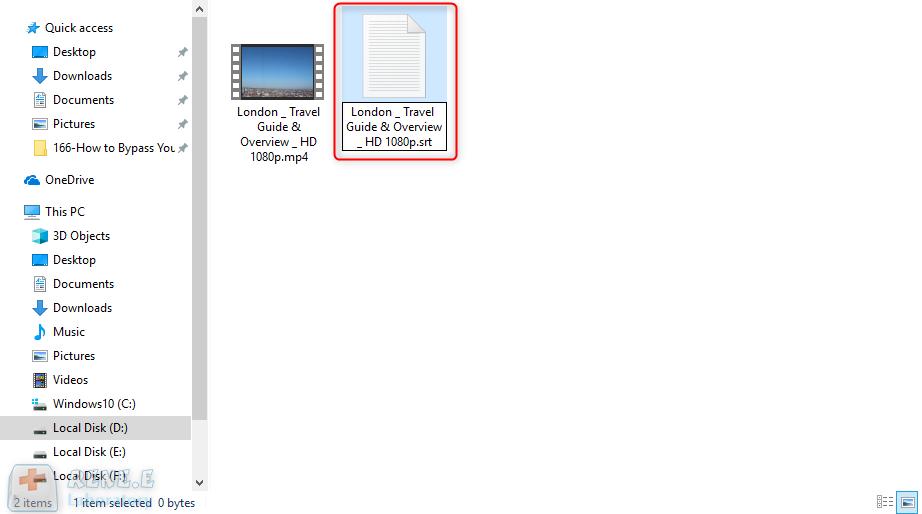 create a new srt subtitle file