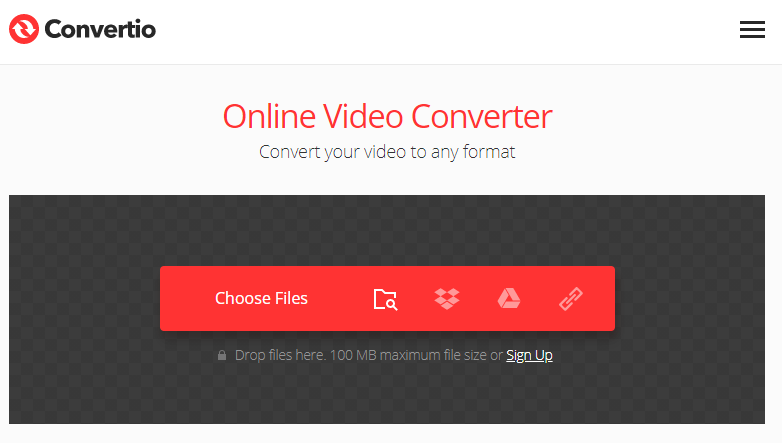 get into convertio to convert formats