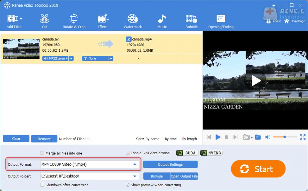 convert ps4 video format in renee video editor pro