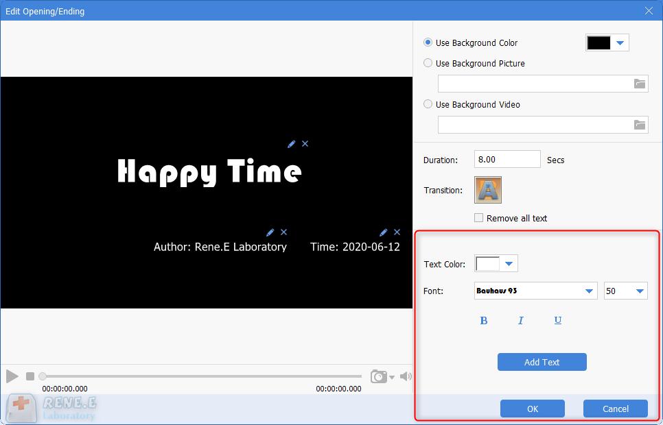 edit opening in renee video editor pro
