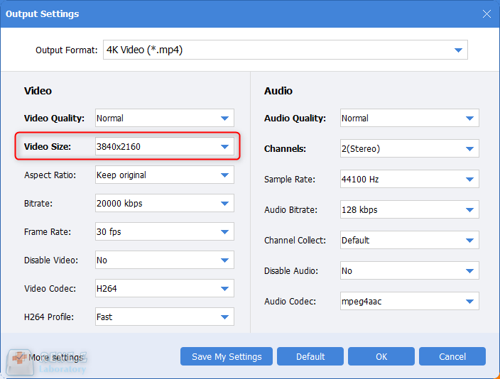select video resolution in renee video editor pro