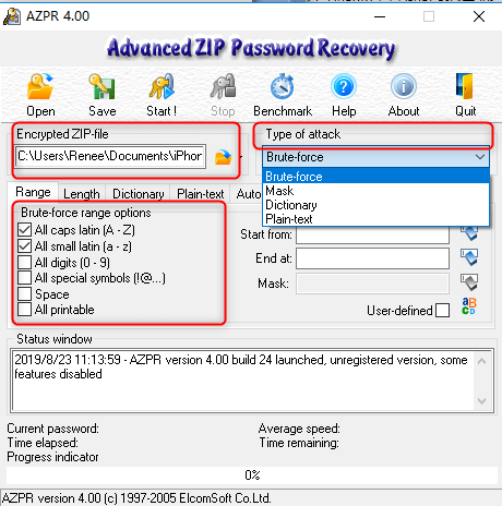 how to encrypt zip file