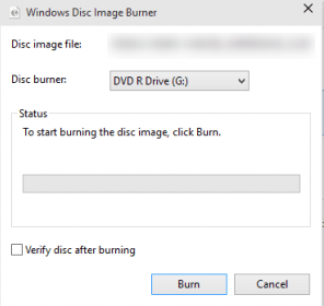 burn video to disc in windows