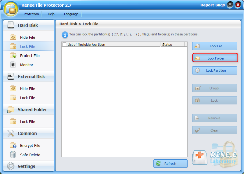 how to password protect dropbox folder with renee file protector