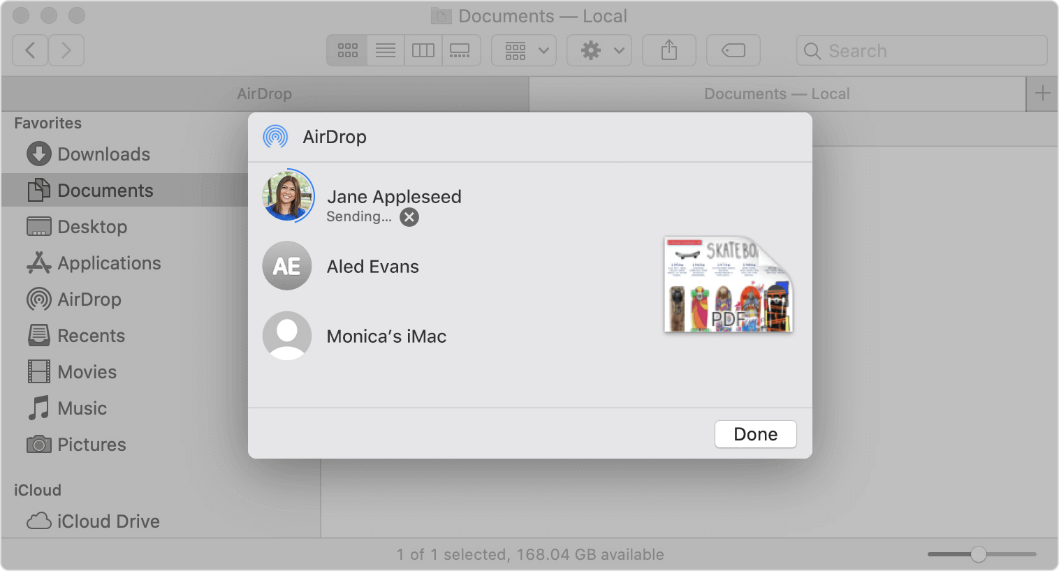 how to airdrop from mac to iphone with the share function
