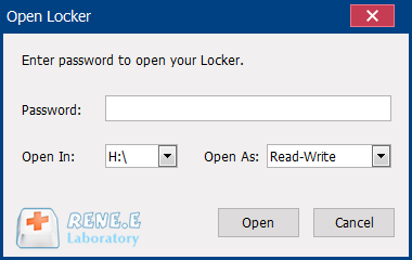 enter password to unlock the usb
