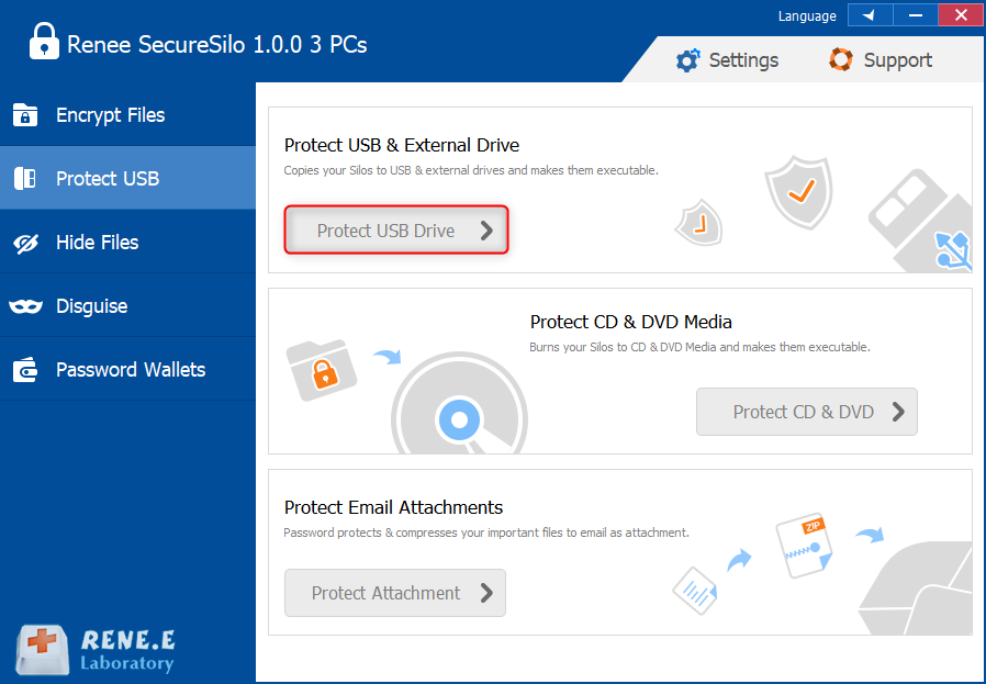 protect usb with renee securesilo