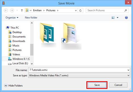 save videos in windows movie maker
