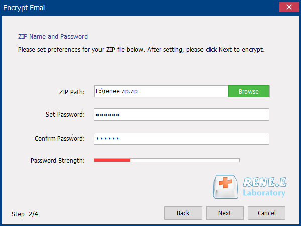 set password to protect zip with securesilo