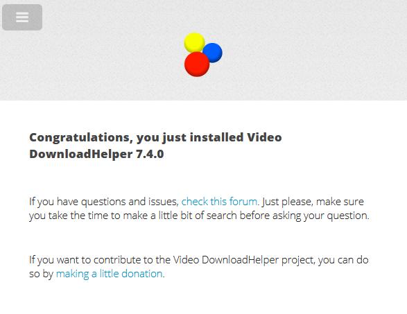 begin using video download helper in firefox