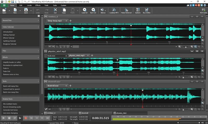 how to cut music with wavepad