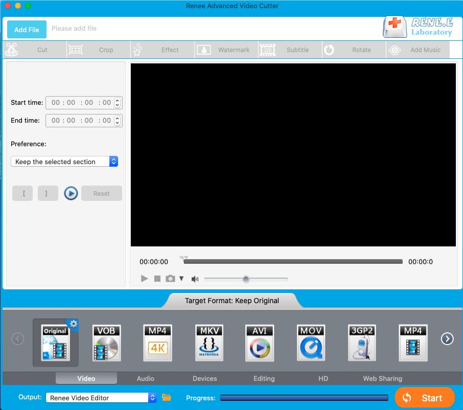 add files to renee advanced cutter