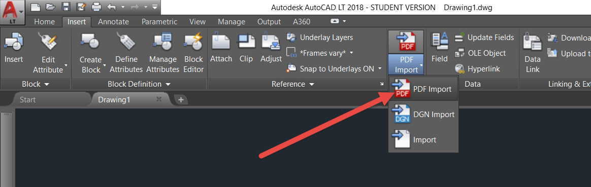 how to convert PDF to dwg with autocad