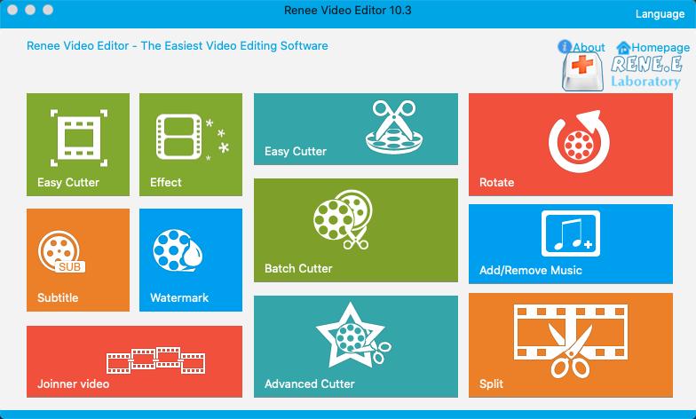 opem renee video editor on mac
