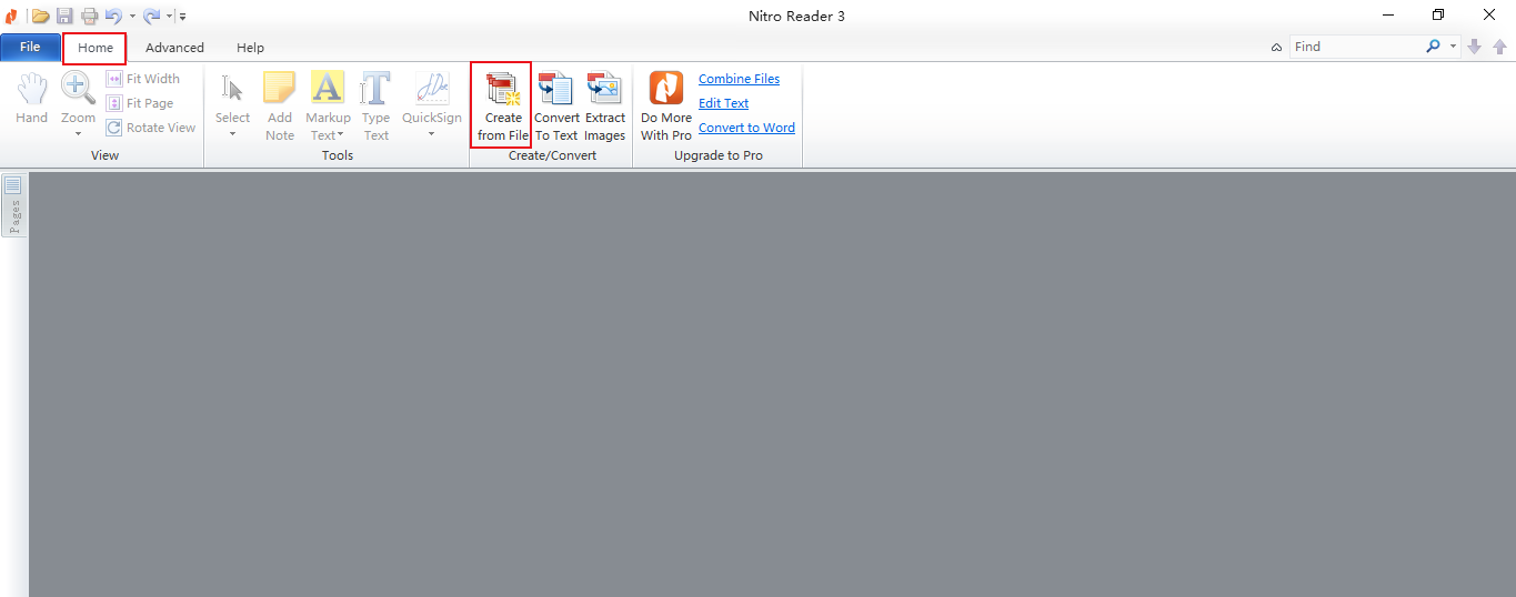 how to use nitro pdf creator to create new pdf