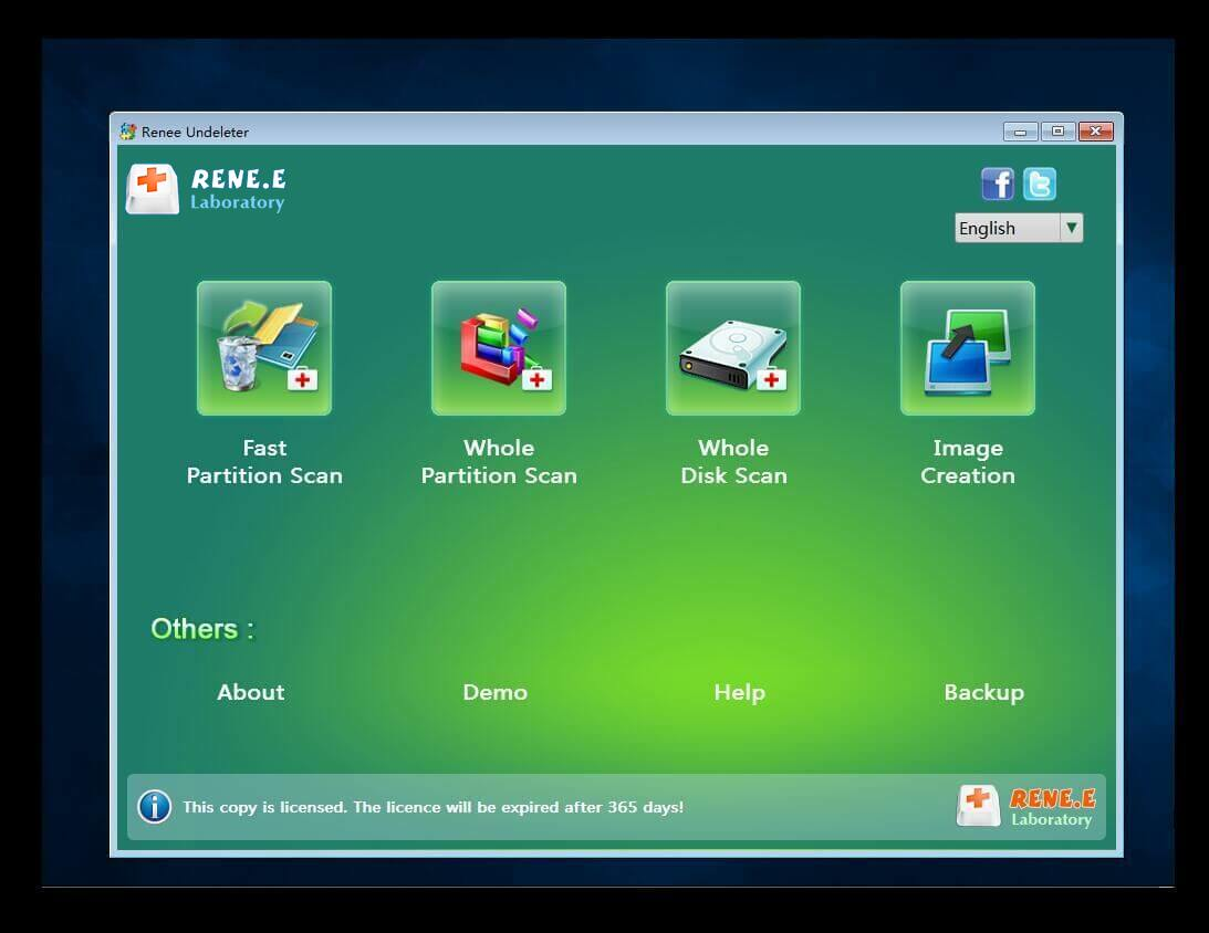 scan the whole partition with renee passnow recovery function to reinstall windows 7