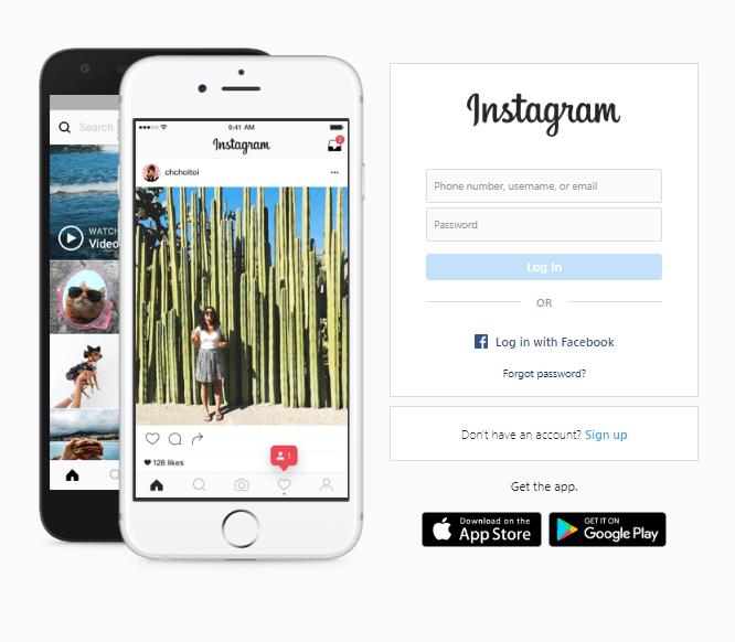 log in to check instagram video format